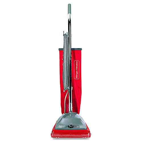 Sanitaire EUK688 SC688 Upright Vacuum, Bagged, 7 amp, 1.53 gal, Red, Silver