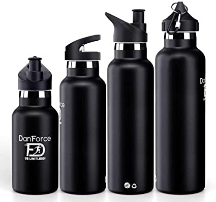 Danforce 21 Oz Stainless Steel Sports Water Bottle Double Walled Metal Vacuum Insulated Bpa Free Keep 24 Hours Hot 36 Hours Cold Comes With Leak Proof Straw Sports And Cap Lids