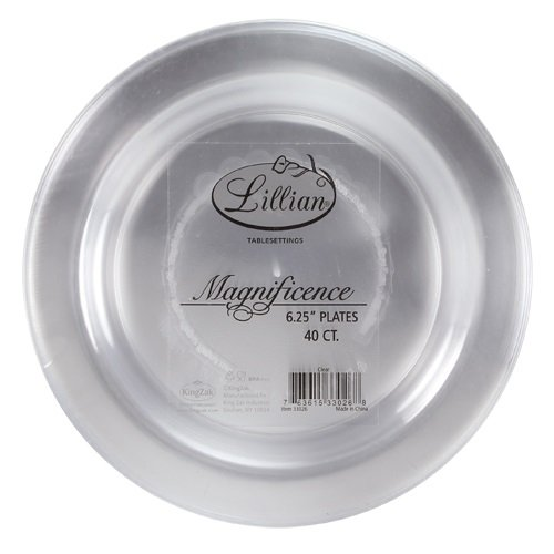 Premium Quality Heavyweight Plastic Plates China Like. Wedding and Party Dinnerware Plastic Plates 6.25 inc Clear-Value Pack 40 Count  sc 1 st  Plate Dish. & Disposable Clear Plastic Plates. Premium Quality Heavyweight ...