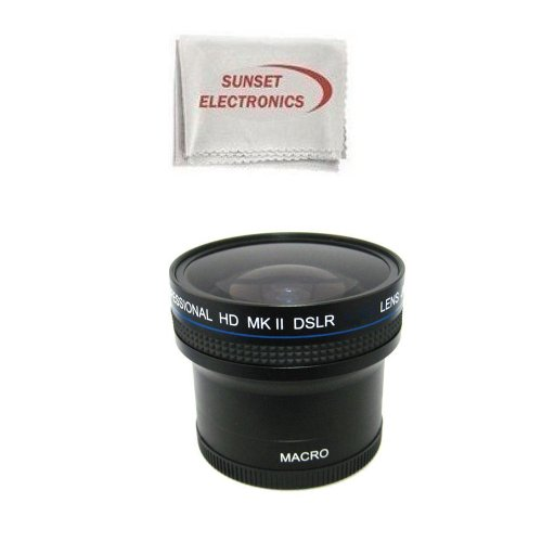0.18x Wide Angle Fisheye Lens With Macro lens For The Nikon D3000 D5000