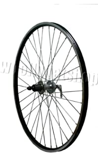 Double Walled Eyeletted Hybrid Bike Cycling Commuting Wheel 700c REAR ALL BLACK QR Cassette Disc Hub