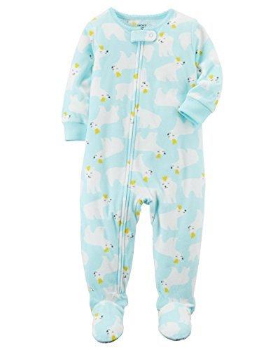 Carter's Baby Girls' 12M-4T One Piece Fleece Polar Bear Pajamas 4T