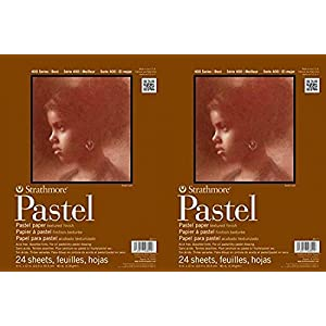 Strathmore 400 Series Pastel Pad, Assorted Colors, 11″x14″ Glue Bound, 24 Sheets Pack of 2