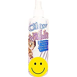 Pet MasterMind Claw Withdraw Stop Cat Scratching Training Spray - Natural Solution to Tape, Caps, Tinfoil,- 8oz