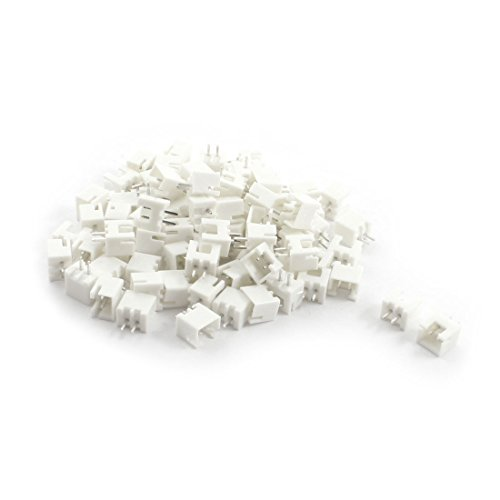 uxcell White 2.54mm Pitch Male JST XH Connector XH-2.54-2P 120pcs