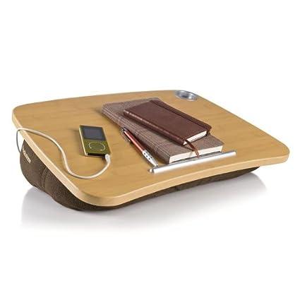 amazon com brookstone e pad portable laptop desk with speakers