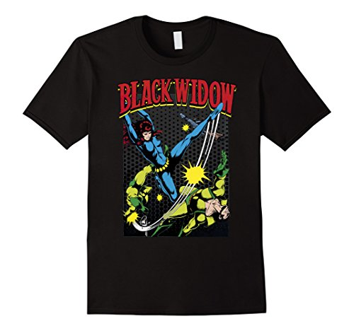 Marvel+Comics+Retro+Shirt Products : Marvel Black Widow Classic Retro Comic Swing Graphic T-Shirt