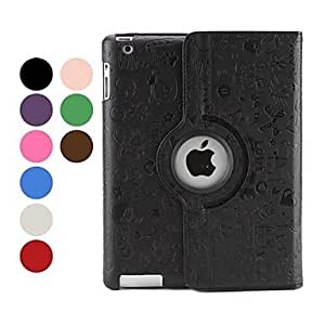 hao Lovely Magic Girl Pattern PU Leather Case for iPad 2/3/4 (Assorted Colors) , Red