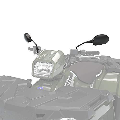 Polaris Handlebar-Mounted Adjustable Mirrors in Black, 2 Pack