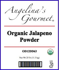 Organic Jalapeno Powder, 25 Lb Bag