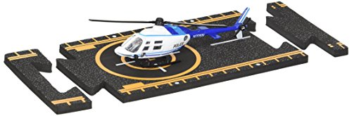 Bell 206 Jet Ranger - Hot Wings Bell 206 Jet Ranger (Police) with Connectible Runway