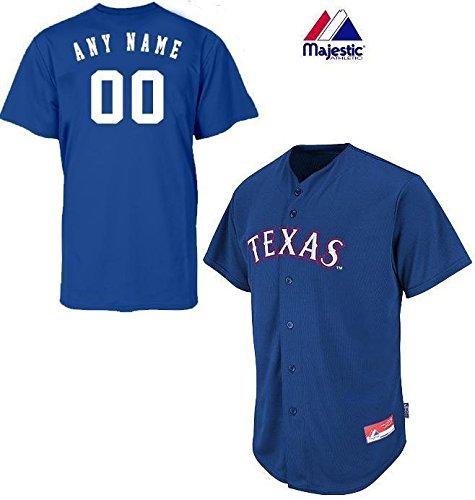 Texas Rangers Full-Button CUSTOM or BLANK BACK Major League Baseball Cool-Base Replica MLB Jersey – Sports Center Store