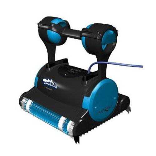 Dolphin 99996356 Dolphin Triton Robotic Pool Cleaner with Caddy Swivel Cable, 60-Feet