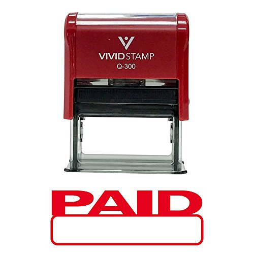 (Basic Paid Self Inking Rubber Stamp (Red Ink) - Large)