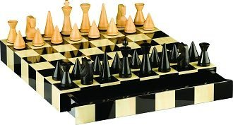 Contemporary Cayro Deluxe Chess Set by Family Games America FGA