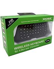 Gam3Gear Dobe 2.4G Wireless Mini Keyboard For XBox One S Slim Gamepad Controller White Black