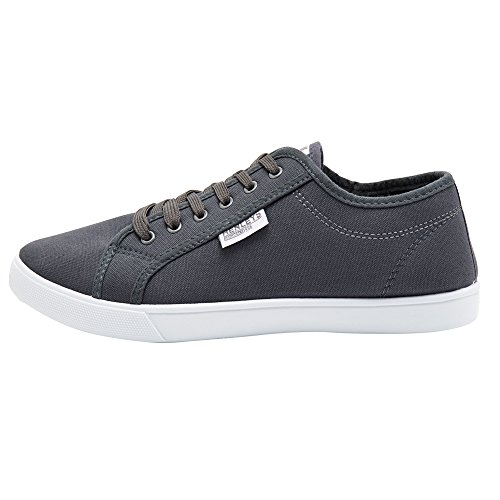 Connor Shoes Men's Grey Quiksilver Foundation Canvas KRMSL373 Charcoal qfXz7