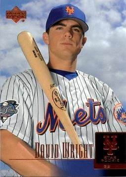 2001 Upper Deck Prospect Premieres #52 David Wright Baseball Rookie Card