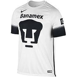 Nike Mens Pumas SS Decept Stadium Jersey, Football White/Black/Black