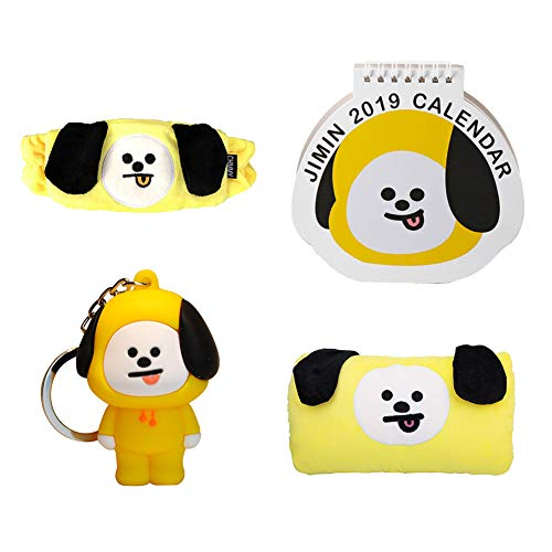 Nuofeng - Kpop BTS Throw Pillow Warm Hand + Cartoon Keychain + Photo Calendar 2019-2020 + Cotton Headband, Member Gift Set for A.R.M.Y(CHIMMY)]()