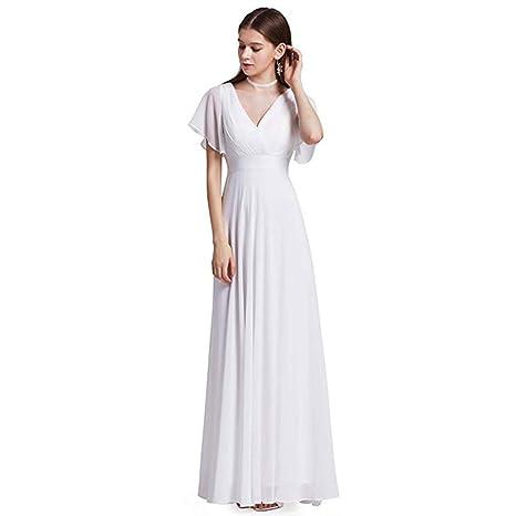 2a74f801f Vestidos de Noche Largos de Doble Cintura con Cuello en V para Mujer Ailin  Home (