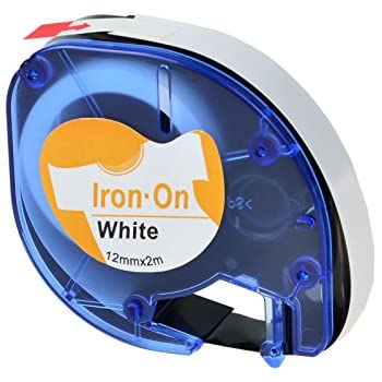 2PK DYMO LetraTag Plus LT100H QX50 LT 18771 Fabric Iron on White Labels 12MM