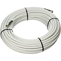 MPD Digital LMR400-W-PL259-100ft Radio Antenna Cable VHF & AIS Coaxial with Silver Teflon UHF PL-259 , 100