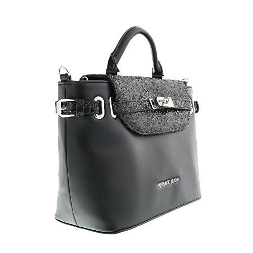 Versace-EE1VOBBE4-E899-Black-GlitterSilver-SatchelShoulder-Bag