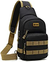 POSO Sling Bag Backpack Multipurpose Casual Crossbody Chest Daypacks with USB Charging Port for Men & Women Fit 9.7 inch...