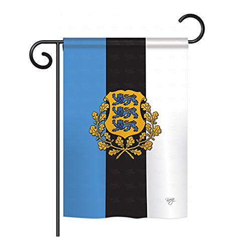 Estonian Garden - Breeze Decor G158171 Estonia Flags of The World Nationality Impressions Decorative Vertical Garden Flag 13