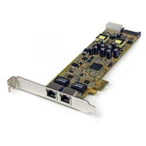 STARTECH.COM ST2000PEXPSE / 2PORT PCI EXPRESS GIGABIT SERVER NETWORK ADAPTER PCIE POE NIC