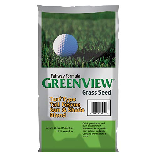 GreenView Fairway Formula Grass Seed Turf Type Tall Fescue Sun & Shade Blend, 25 lb Bag (Best Turf Type Tall Fescue)