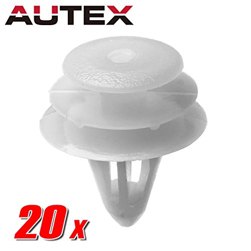 AUTEX 20pcs Door Trim Panel Fastener Rivet Push Clips Retainer Nut Replacement for Nissan 350Z Altima Hybrid Frontier Replacement for Maxima Pathfinder Quest Sentra Titan Xterra