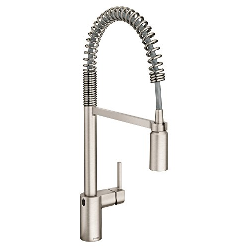 Moen 5923EWSRS Align Motionsense Wave Sensor Touchless One-Handle High Arc Pulldown Kitchen Faucet Featuring Reflex, Spot Resist Stainless