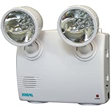 Ideal Security Inc. SK636 Emergency Power Failure Light 2 Adjustable Heads, 60 Lumens LED, Rechargeable, Up to 48 Hours Battery Life, White