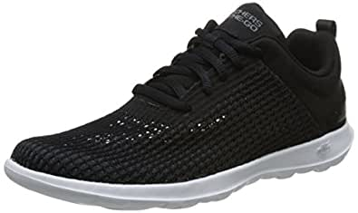 SKECHERS Go Walk Lite-Easy Breezy, Women's Road Running Shoes, Black (Black/White), 5 UK (38 EU)