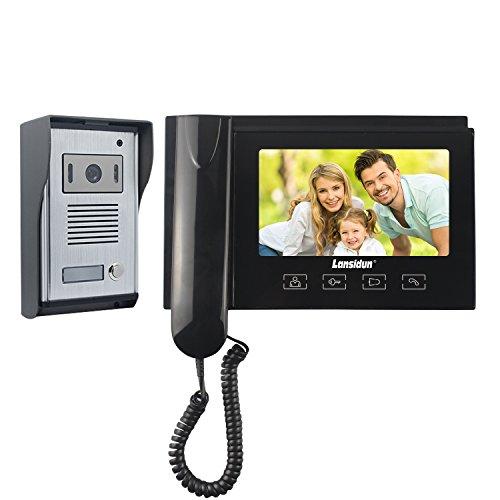 Lansidun Video Doorbell Door Phone 7 inch Wired Video Telephone Entry...