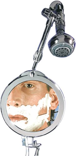 Zadro Fogless Shower Shaving Mirror (Zadro 3X/1X Magnification Z Fogless Dual Sided Telescoping Shower Mirror and Dual Accessory Holder, 8.5-Inch, Chrome)