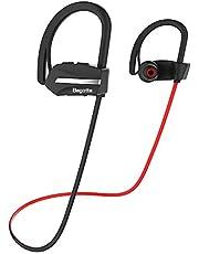 Auriculares Bluetooth, Bagotte Auriculares inalámbricos Deportivos IPX7 Impermeable Casco Mini Inalámbrico Estéreo 9 Horas Auriculares Deportivos Bluetooth 4.1 para iOS, Android, iPad.