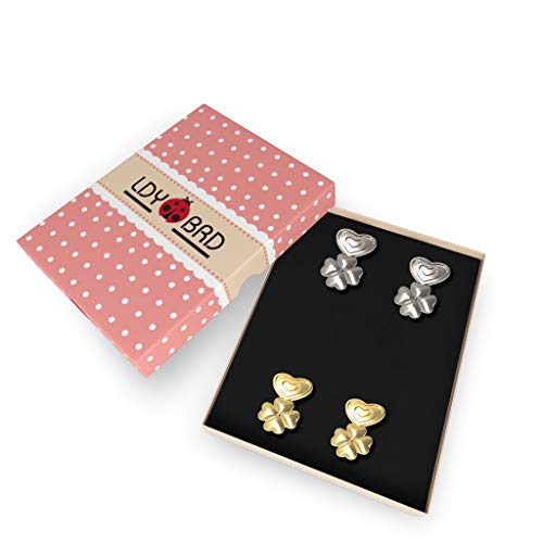 Earring Lifters .925 Sterling Silver 2 Pairs - Happy Ending for Sagging Earrings & Easy to Use! Adjustable & Hypoallergenic Earring Backs Support, Compatible with All Standart Earring Post! by LDYBRD (Image #4)