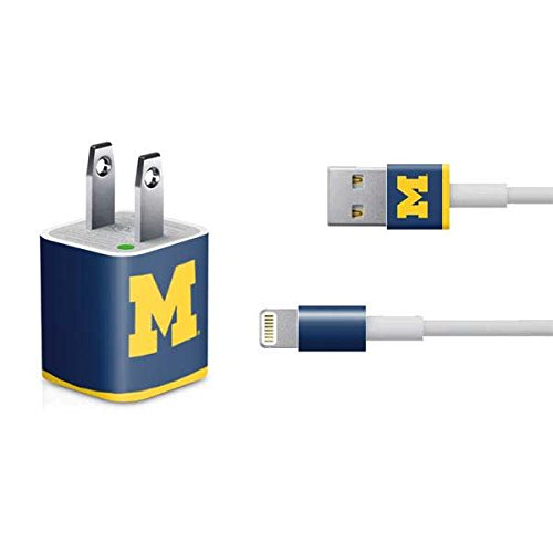 Skinit University of Michigan Logo iPhone Charger (5W USB) Skin - Officially Licensed College Decal Sticker - Ultra Thin, Lightweight Vinyl Decal Protective Wrap