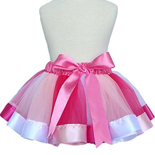 Ecosin Petticoat Rainbow Pettiskirt Dancewear