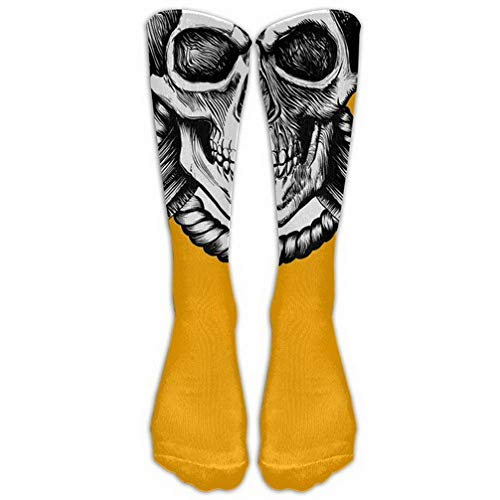 Halloween Party Skull Pumpkin Color Stockings Long Tube Socks, Great Quality Classics Knee High Socks Sports Socks for Women Men One Size 1 Pair LERJIMUX ()
