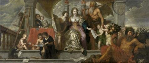The Perfect Effect Canvas Of Oil Painting 'Theodoor Boeyermans,Antwerp,Nourishing The Painters,1620-1678' ,size: 20x47 Inch / 51x120 Cm ,this High Resolution Art Decorative Prints On Canvas Is Fit For Gym Artwork And Home Decoration And Gifts