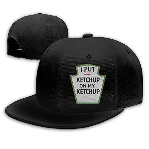 Funny I Put Ketchup on My Ketchup Adjustable Cotton Hat Unisex Hip Hop Baseball Caps Black