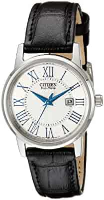 Citizen Women's Eco-Drive Stainless Steel Watch with Date, EW1568-04A