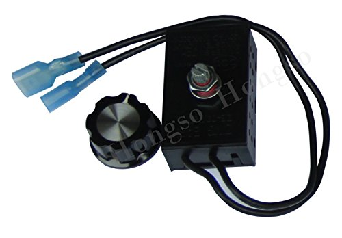 Hongso Fireplace Stove Blower Fan Variable Rheostat Speed On /Off Switch Ctrl, Fireplace Fan Speed Control