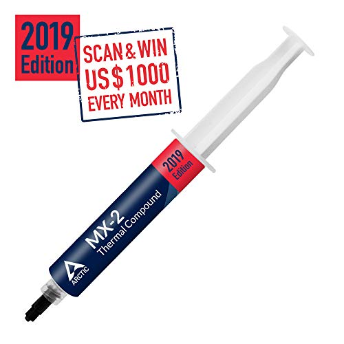ARCTIC MX-2 2019 Edition - Thermal Compound Paste, Carbon Based High Performance, Heatsink Compound CPU for All Coolers, Thermal Interface Material, Easy to Apply, High Durability - 30 Grams