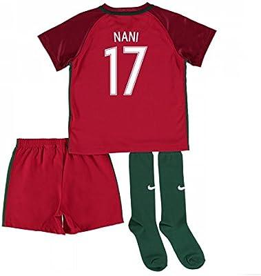2016 - 2017 Portugal Home Nike Mini Kit, infantil, Nani 17 ...
