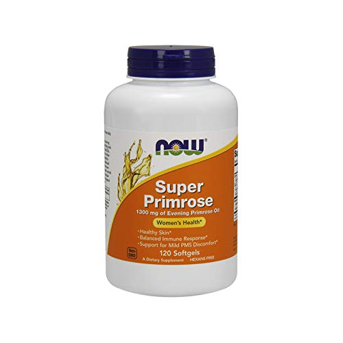 NOW Supplements, Super Primrose 1300 mg with Naturally Occurring GLA (Gamma-Linolenic Acid), 120 Softgels ()